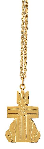 Presbyterian Gold FinishPendant with Chain