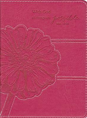 Pink Lux-Leather Journal with God MT 19