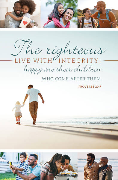 Picture of The Righteous Live With Integrity Father's Day Bulletin (Pkg of 50)