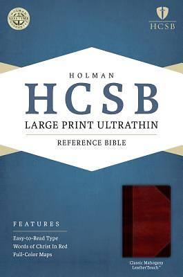HCSB Large Print Ultrathin Reference Bible, Classic Mahogany Leathertouch