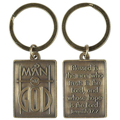 Man of God Antique Bronze Keyring