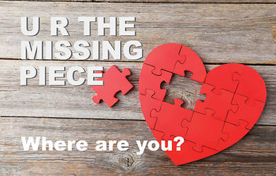 U R The Missing Piece Absentee Postcard