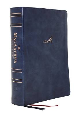 Nkjv, MacArthur Study Bible, 2nd Edition, Leathersoft, Blue, Indexed, Comfort Print
