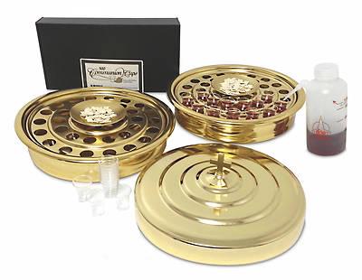 Picture of Artistic 7-Piece Brasstone Communion Starter Set