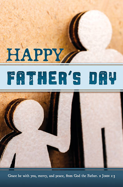 Picture of Happy Father's Day (Grace Be With You) Regular Size Bulletin (Pkg of 100)