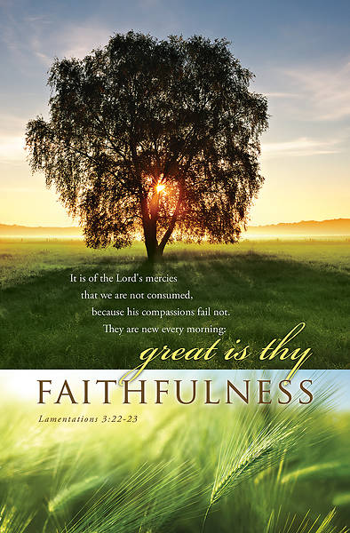 Faithfulness General Regular Size Bulletin