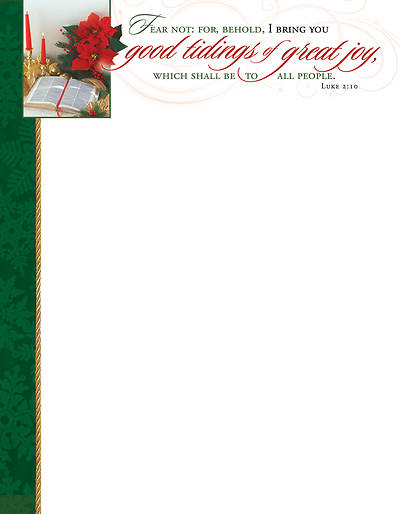 Good Tidings of Great Joy Christmas Letterhead