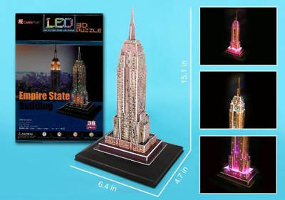 Picture of Empire State 3D Puzzle with Base & Lights