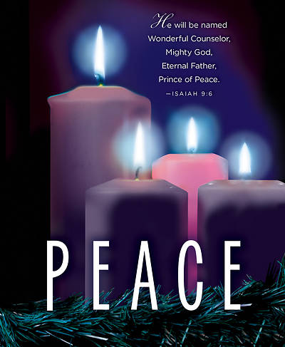 Picture of Peace Advent Candle Sunday 4 Bulletin, Large (Pkg of 50)