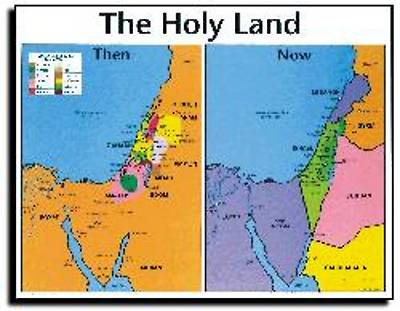 Picture of Wall Chart Holy Land Then and Now
