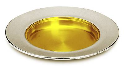 Large Paten Silverplate, Gold Lined