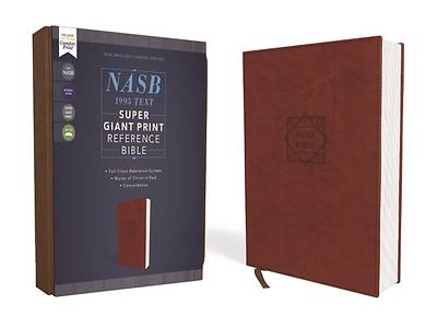 Picture of Nasb, Super Giant Print Reference Bible, Leathersoft, Brown, Red Letter Edition, 1995 Text, Comfort Print