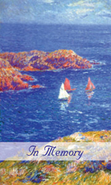 Picture of Sailboat Memorial Card Package of 25