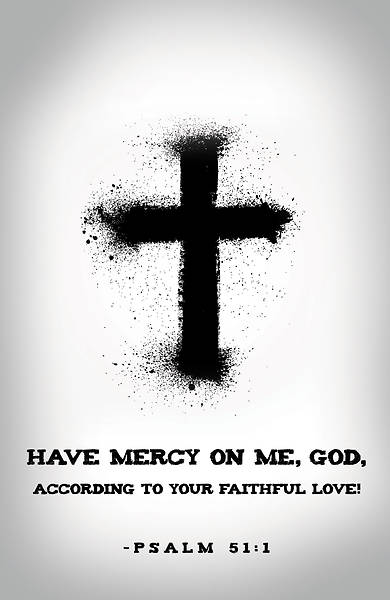 Have Mercy Ash Wednesday Bulletin (Pkg of 50)