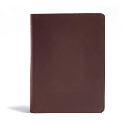 Picture of CSB He Reads Truth Bible, Brown Genuine Leather