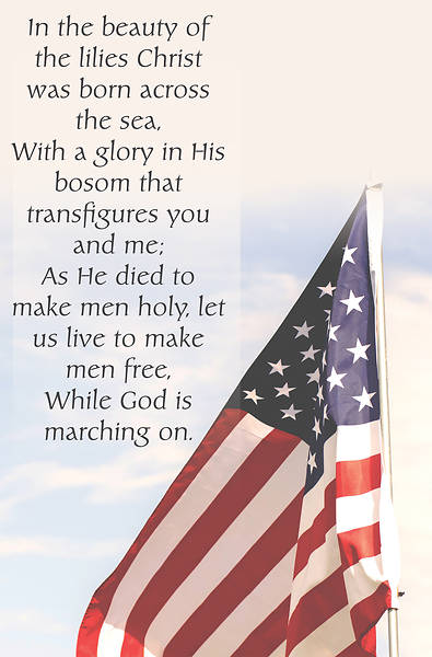 Picture of In The Beauty Hymn Patriotic Regular Size Bulletin