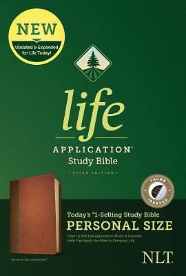 NLT Life Application Study Bible, Third Edition, Personal Size (Leatherlike, Brown/Tan, Indexed)
