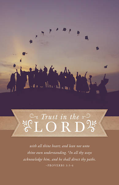 Trust in the Lord Graduation Bulletin - Pack of 100