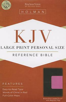 Picture of Large Print Personal Size Reference Bible-KJV-Magnetic Flap