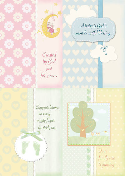 Gods Little Miracles - Baby Congratulations Boxed Cards - Box of 12