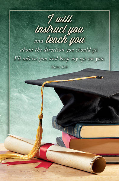 Picture of I Will Instruct You and Teach You Graduation Bulletin (Pkg of 50)