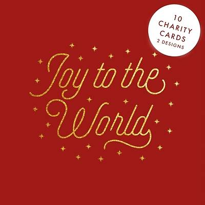 Picture of Gold Text 10-Pack Christmas Cards