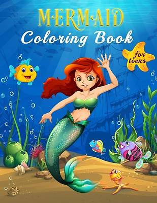 Picture of Mermaid Coloring Book For Teens