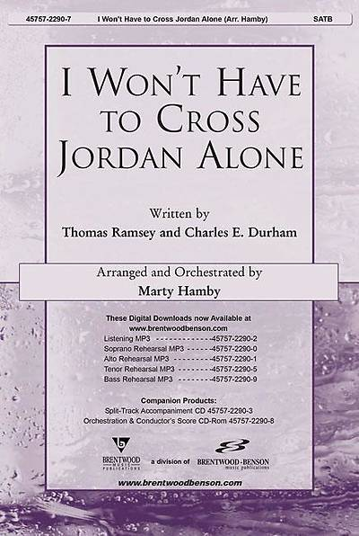 I Wont Have to Cross Jordan Alone Orchestration/Conductors Score CD-ROM