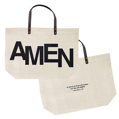 AMEN Jute Tote Bag