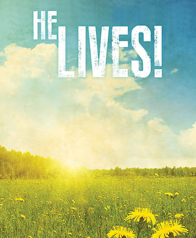 He Lives! Images Easter Bulletin, Large (Pkg of 50)