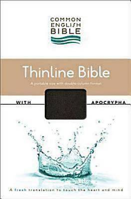 CEB Common English Thinline Bible with Apocrypha DecoTone Black