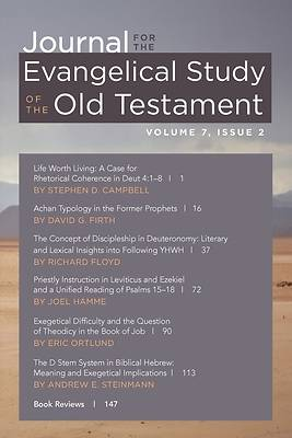 Picture of Journal for the Evangelical Study of the Old Testament, 7.2