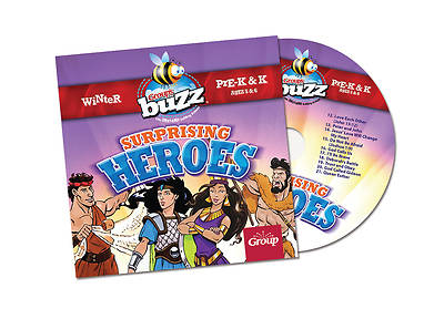 Group Buzz Pre-K&K: Surprising Heroes CD, Winter 2013-2014