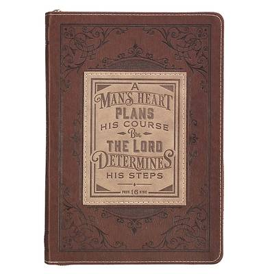 Journal Classic Zippered Luxleather a Man's Heart - Prov 16