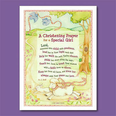 Picture of Christening Prayer Plaque-Girl