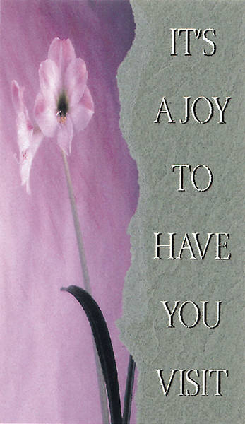 Picture of It's a Joy to Have You Visit Pew Card