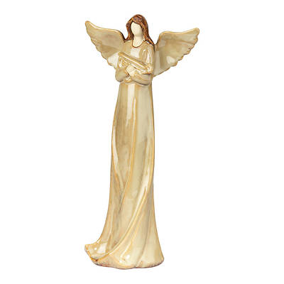 "Picture of Angel with Harp Ceramic 11.5""H"