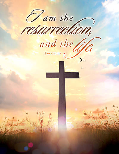 Picture of I Am Resurrection Easter Tabloid Bulletins