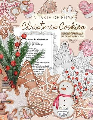 Picture of A Taste of Home CHRISTMAS COOKIES RECIPES COOKBOOK & CHRISTMAS COOKIES COLORING BOOK in one!
