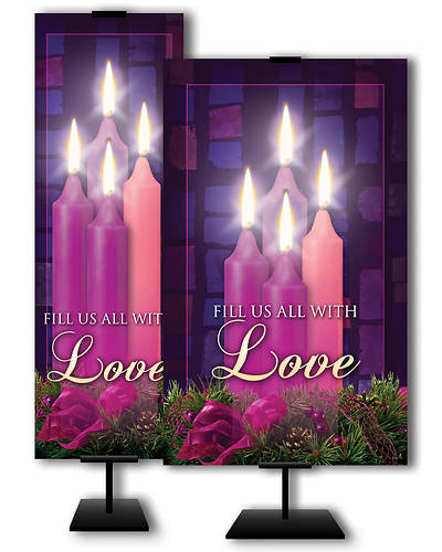 Fill Us All With Love Advent 3 x 5 Banner