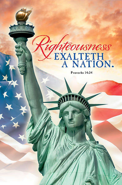 Picture of Righteousness Patriotic Regular Size Bulletin