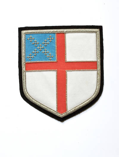 Hand Embroidered Episcopal Shield