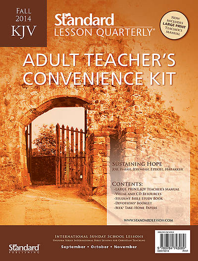 Standard Lesson Quarterly KJV Adult Teachers Convenience Kit Fall 2014