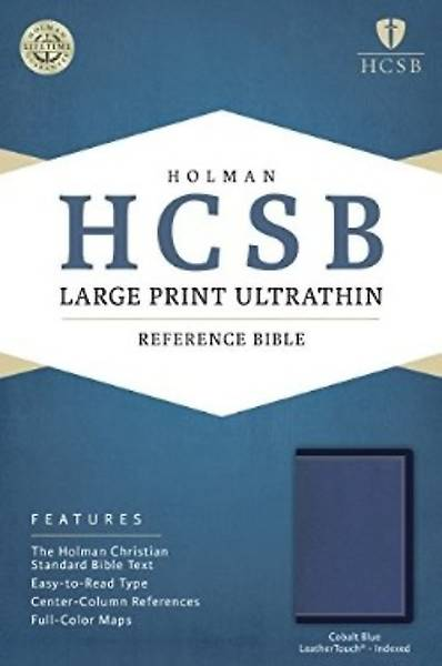 HCSB Large Print Ultrathin Reference Bible, Cobalt Blue Leathertouch, Indexed
