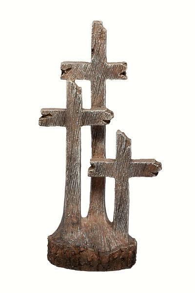 Picture of Three Cross Rustic Table Cross 8""