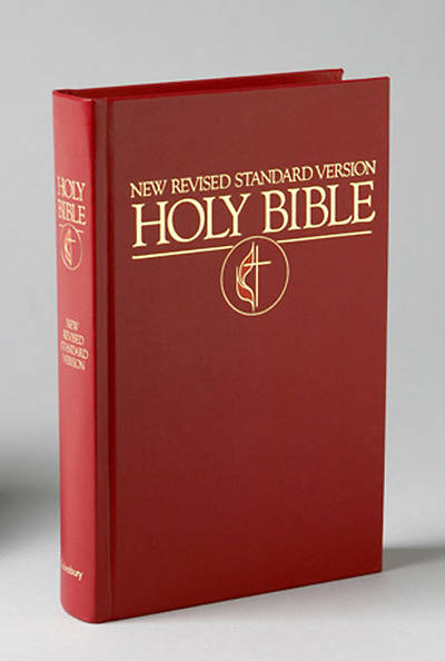 New Revised Standard Version (NRSV) Pew Bible with United Methodist Cross & Flame