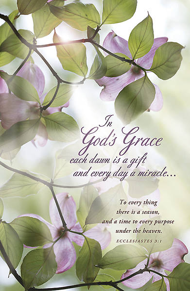 """In Gods Grace Each Dawn is a Gift"" Bulletin, Regular"