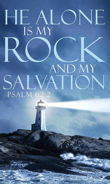 Words of Hope Series He Alone is My Rock Banner 3 x 5