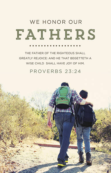 Picture of Father's Day Bulletin - Honor Our Fathers - Proverbs 23:24 (KJV) - PKG 100