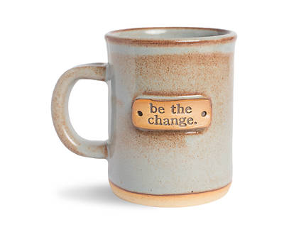 Be The Change Mug -Blue Shino